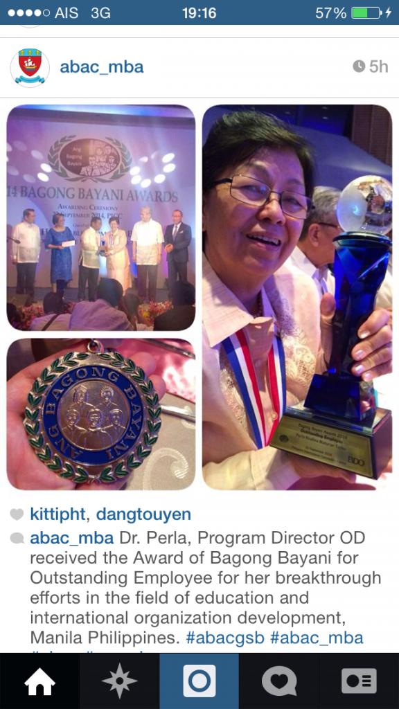 Perla Tayko photo at Manila award ceremony