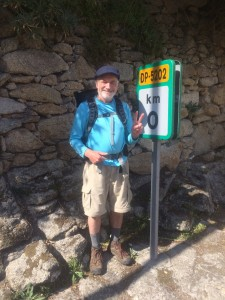Michael Roth walking across Spain last fall
